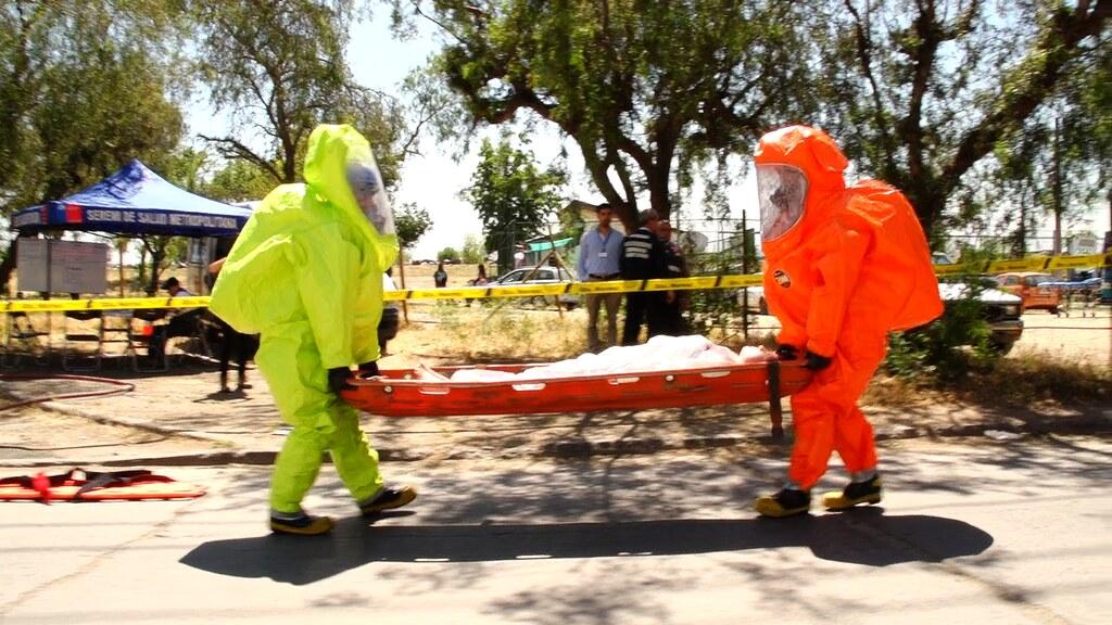 SAMU Metropolitano se perfecciona en simulacro de intoxicación química
