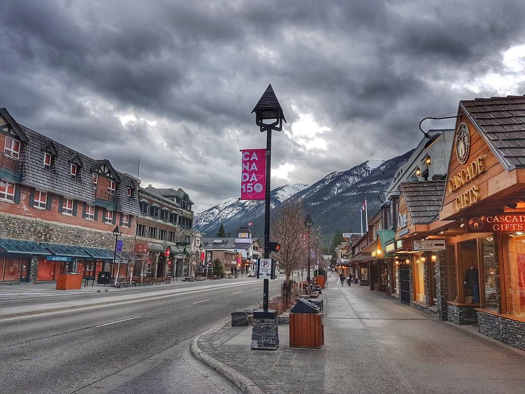 Banff Main Street Morning Walk