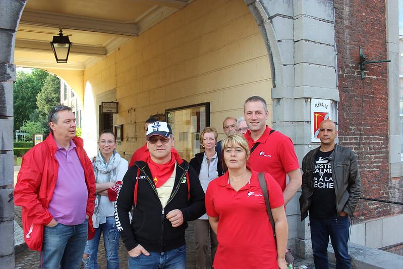 19 mai 2017 - Manifestation - AISH au conseil communale de Flémalle