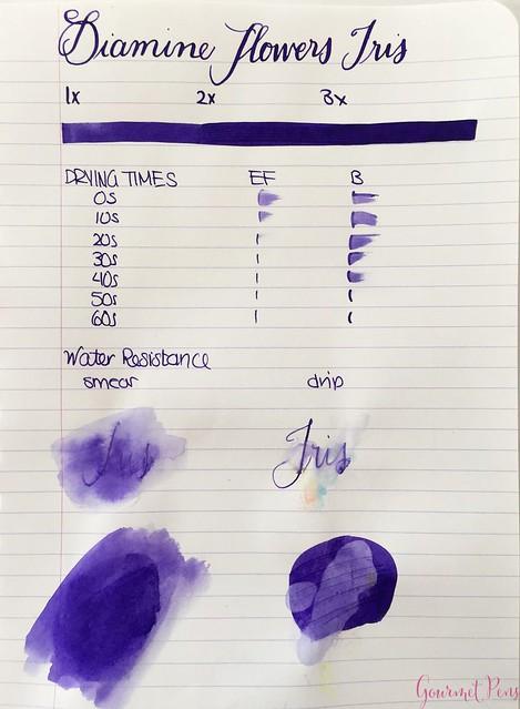 Ink Shot Review Diamine Flowers Iris @AppelboomLaren 1