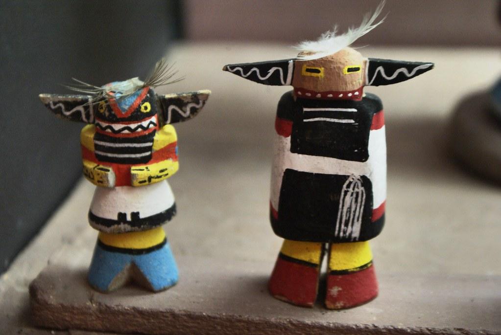 Figurines Hopi dans la Casa Albertis de Gènes.