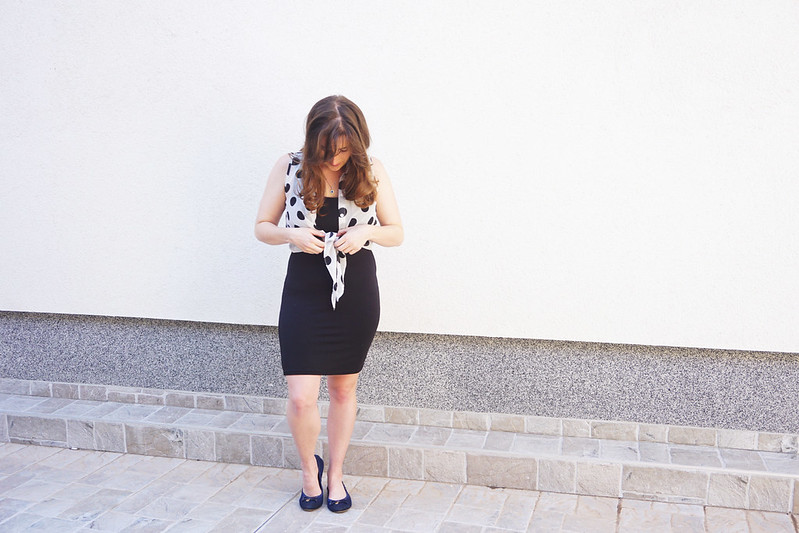 dress with polka dot top