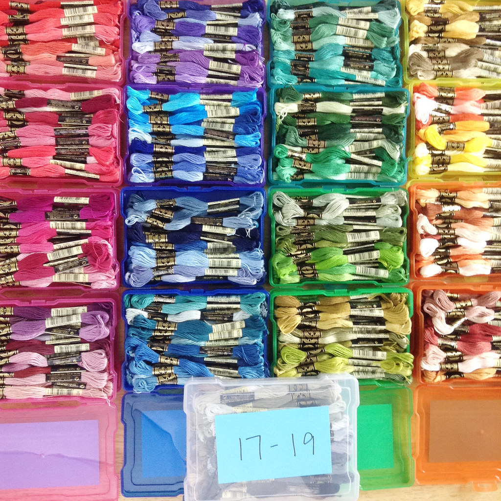 Wild olive organizing embroidery floss without bobbins complete dmc floss set in cases geenschuldenfo Choice Image