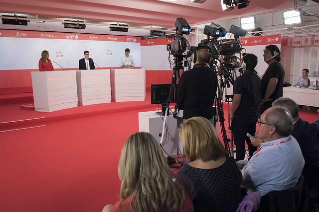 Patxi López participa en el debate con Susana Díaz y Pedro Sánchez
