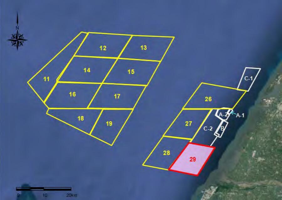 彰化縣離岸風力發電計畫示意圖