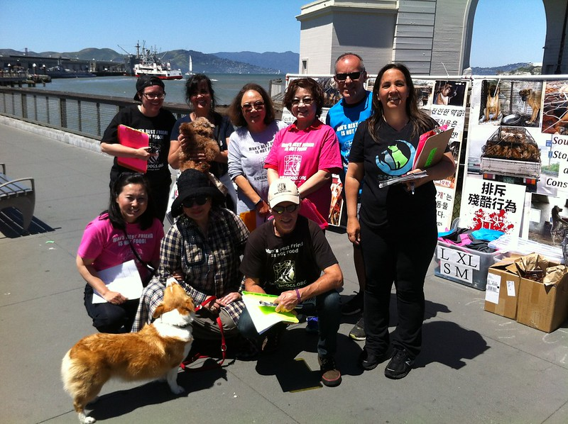 San Francisco, Fisherman's Wharf Leafleting Event – April 29, 2017