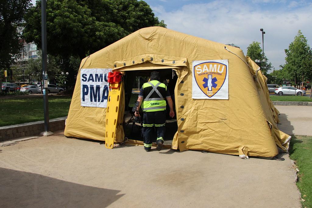 SAMU Metropolitano participa de simulacro en el Día Mundial Recuerdo a las Víctimas de Violencia Vial