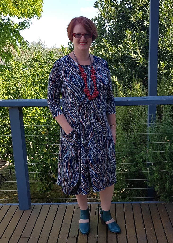 Style Arc Alissa knit dress in fabric from Darn Cheap Fabrics
