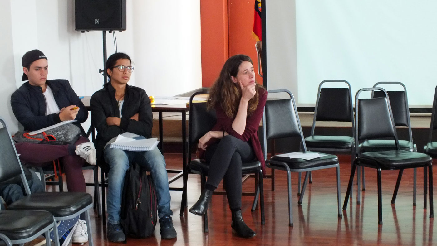 patrimonio_creatividad_valores_workshop_taller_reharq_universidad_cuenca_ecuador_hablan los alumnos