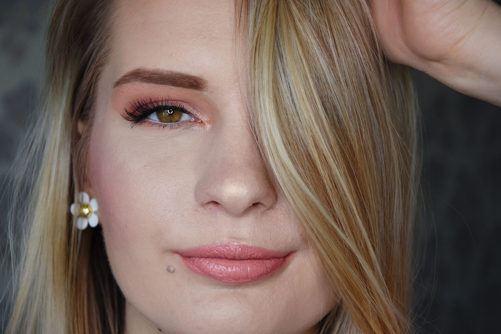Peachy makeup look inspiration