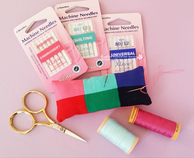 Pincushion for sewing machine needles