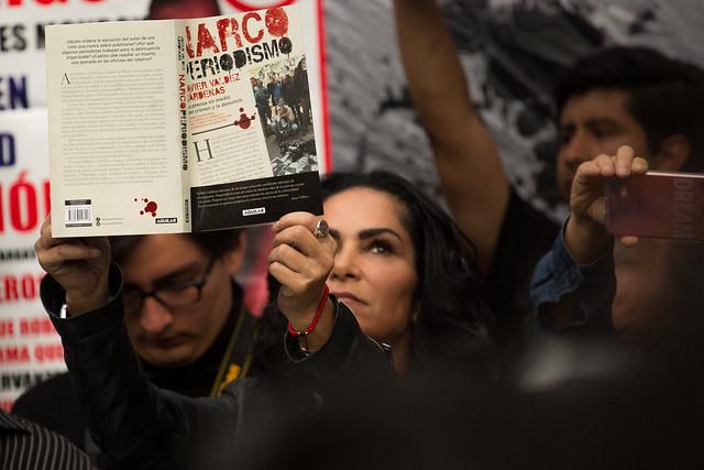 Jornada de protestas por el asesinato de #JavierValdez y #MiroslavaBreach