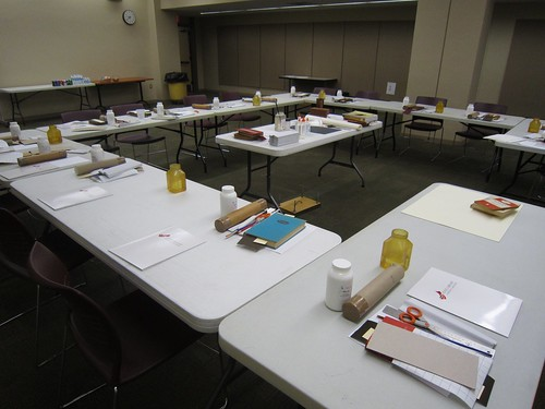 Workshop set up- Pack Library, Asheville, NC