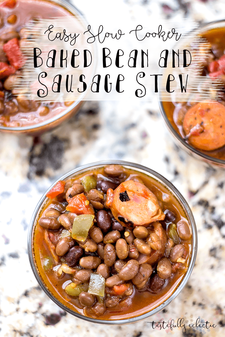 Easy Slow Cooker Baked Bean and Sausage Stew
