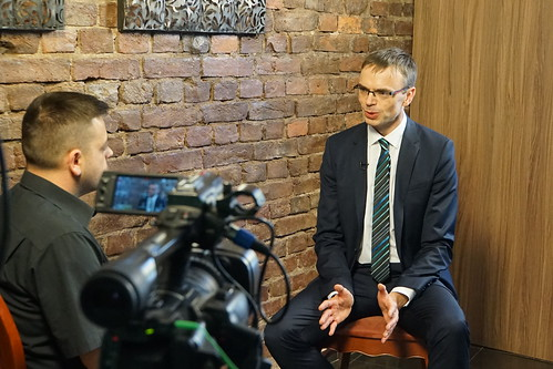 Mikser Giving an interview to Gazeta Express | by Estonian Foreign Ministry