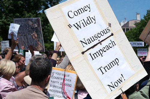 Comey firing demonstration