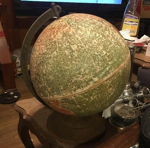 ruined globe