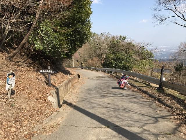 野登山 表参道 車道分岐