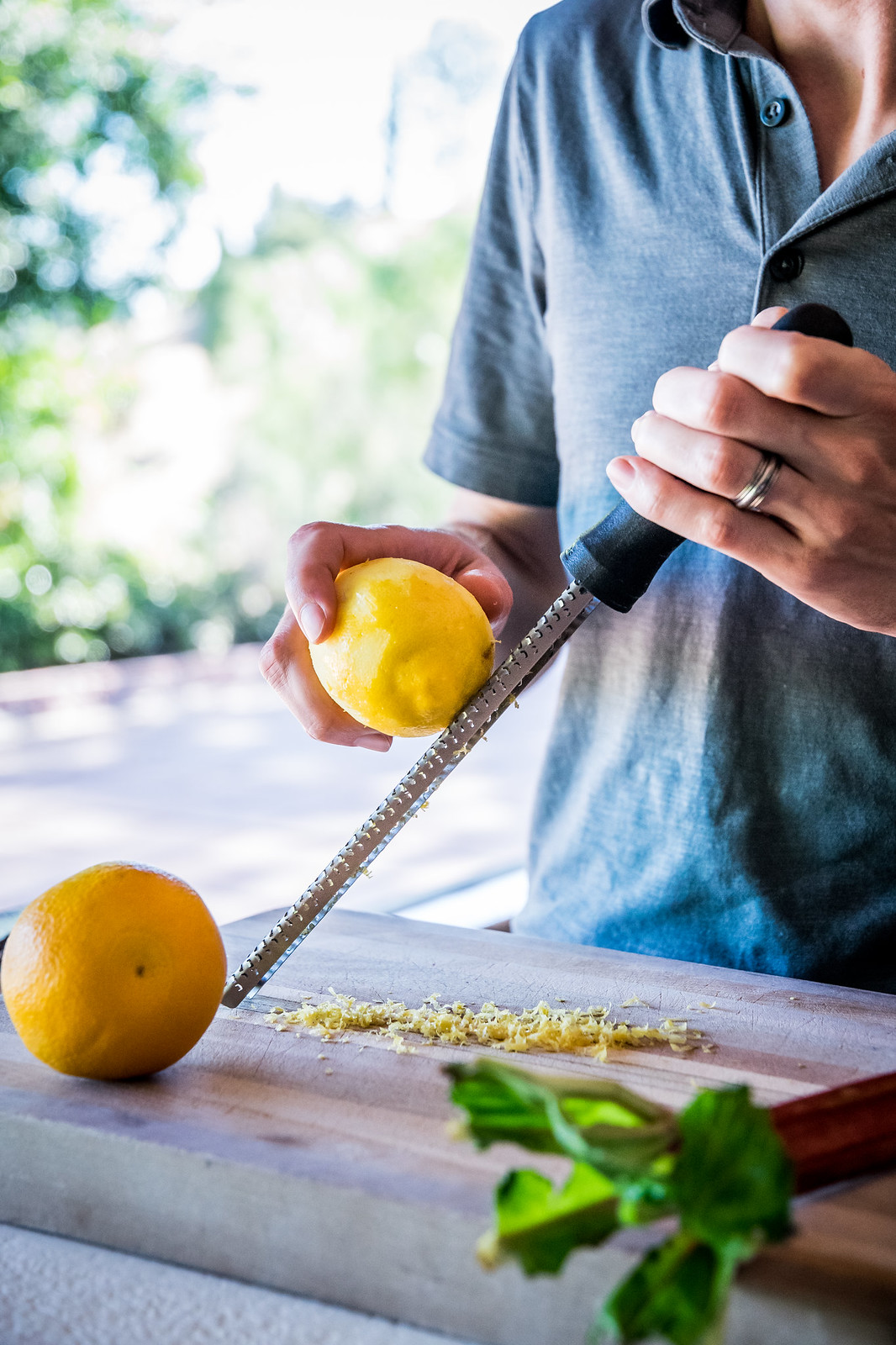 lemon and orange zest for a bright burst of citrus