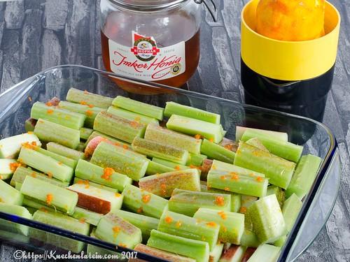 Honey-baked rhubarb-1