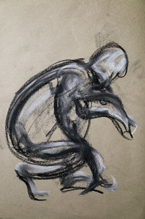 Gestures in charcoal and chalk
