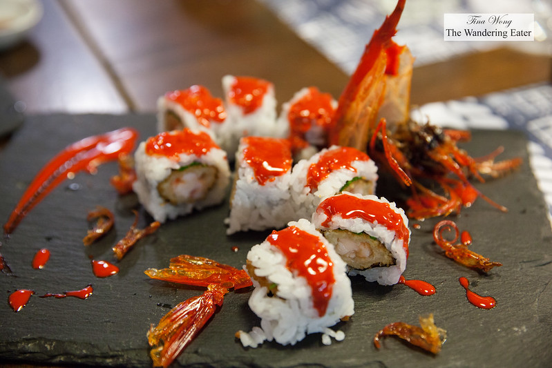 Red Dragon Roll - Carabineiro e cebolinho (Deep-sea cardinal prawns