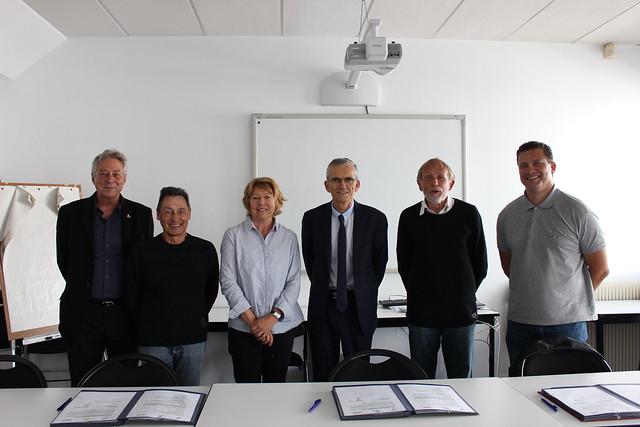 Signature de convention entre la DSDEN du Rhône, le comité de randonnée pédestre du Rhône-Métropole de Lyon et le comité USEP du Rhône-Métropole de Lyon