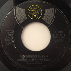 JOHNNY GUITAR WATSON:SUPERMAN LOVER(LABEL SIDE-A)