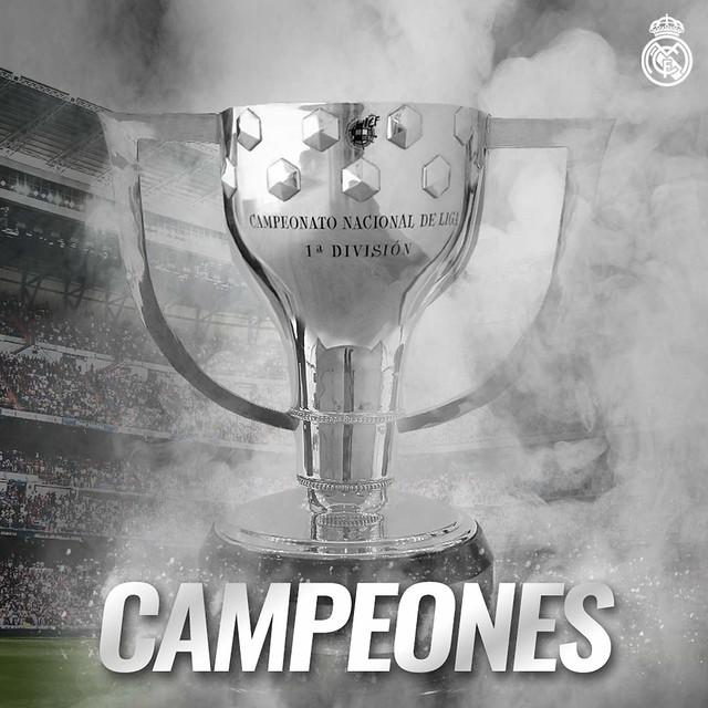 El Real Madrid Campeón de Liga