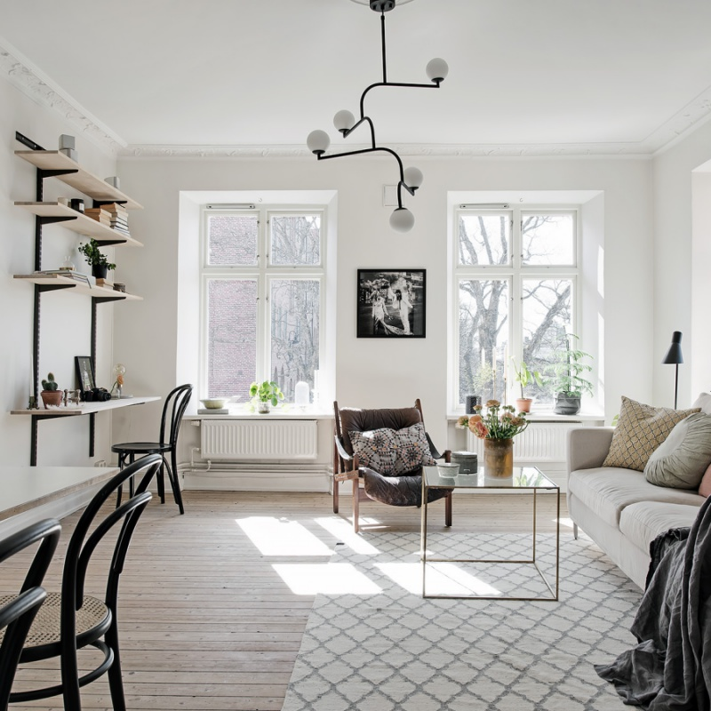 A Pretty Scandinavian Home Filled With Lights