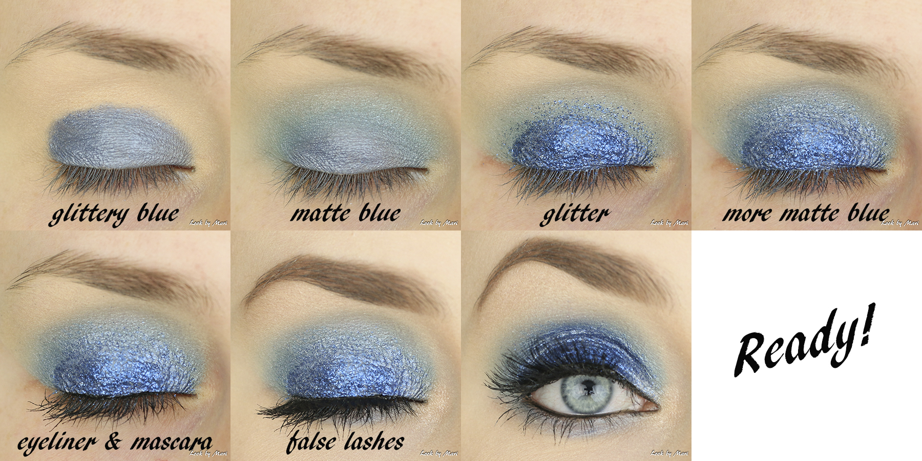 5 blue eye makeup glittery for beginners easy quick glam party eye makeup tutorial inspo