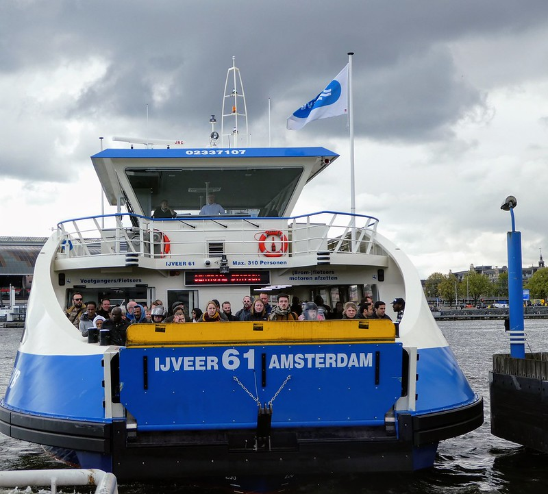 Ferry between Amsterdam and the north bank of the IJ