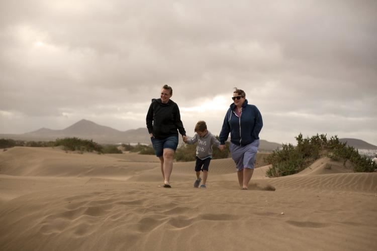 family memories on the beach