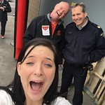 Amanda, Larry and Policeman ham it up (May 3, 2017)