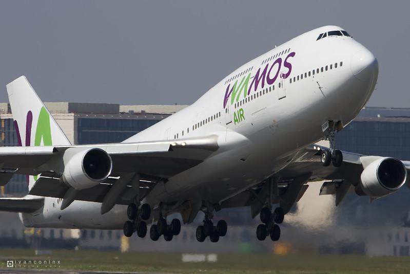Boeing 747-412 – Wamos Air – EC-KSM – Brussels Airport (BRU EBBR) – 2017 05 06 – Takeoff RWY 07R – 01 – Copyright © 2017 Ivan Coninx