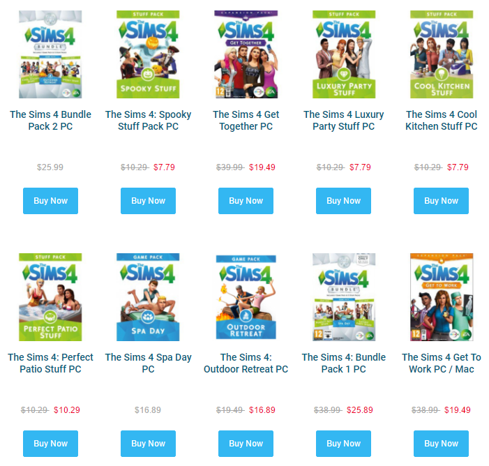 The Sims 4 Purchase Expansion Packs For 20 At Cd Keys Simsvip
