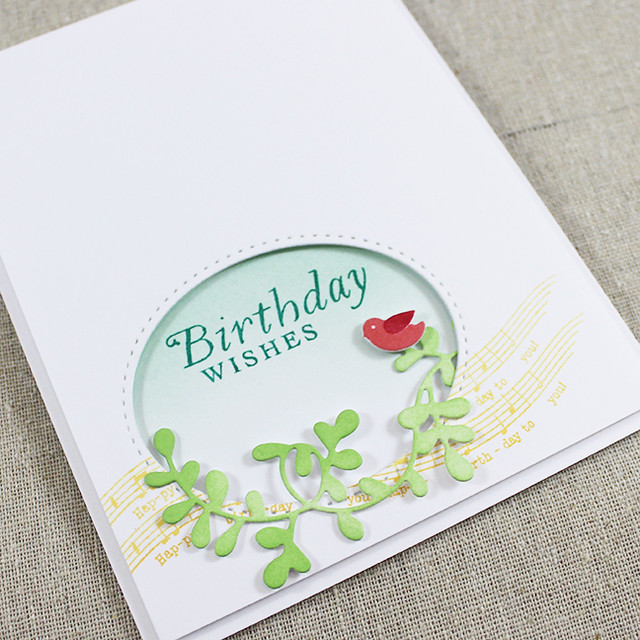 Birdy Birthday Wishes Card Flat