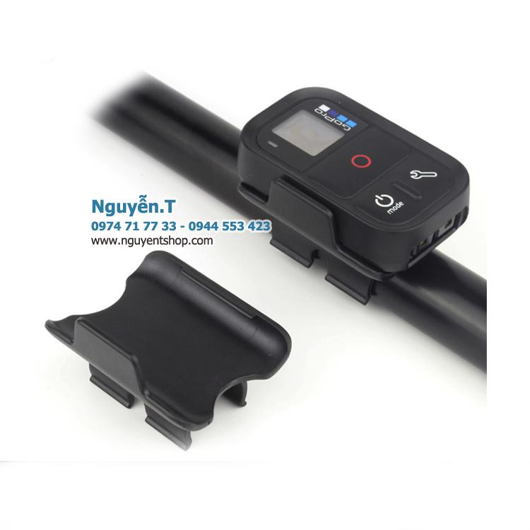 Kẹp giữ remote GoPro lên gậy monopod selfie