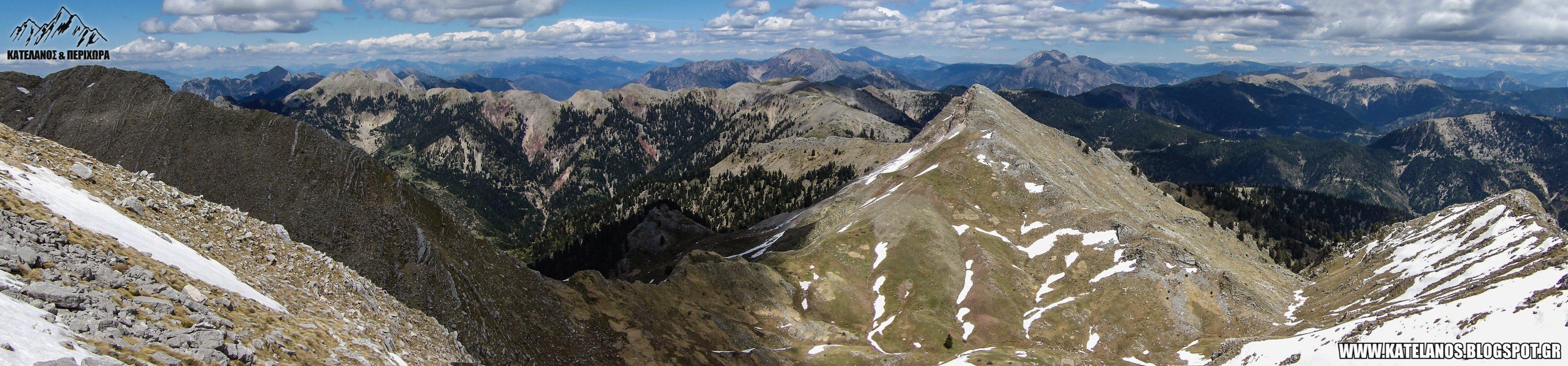 καταβαση απο τον κατελανο παναιτωλικου ορους κρημνιτσα βουνοκορφες χιονουρες