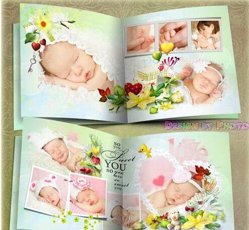Children photobook for Photoshop – sun, I love you!