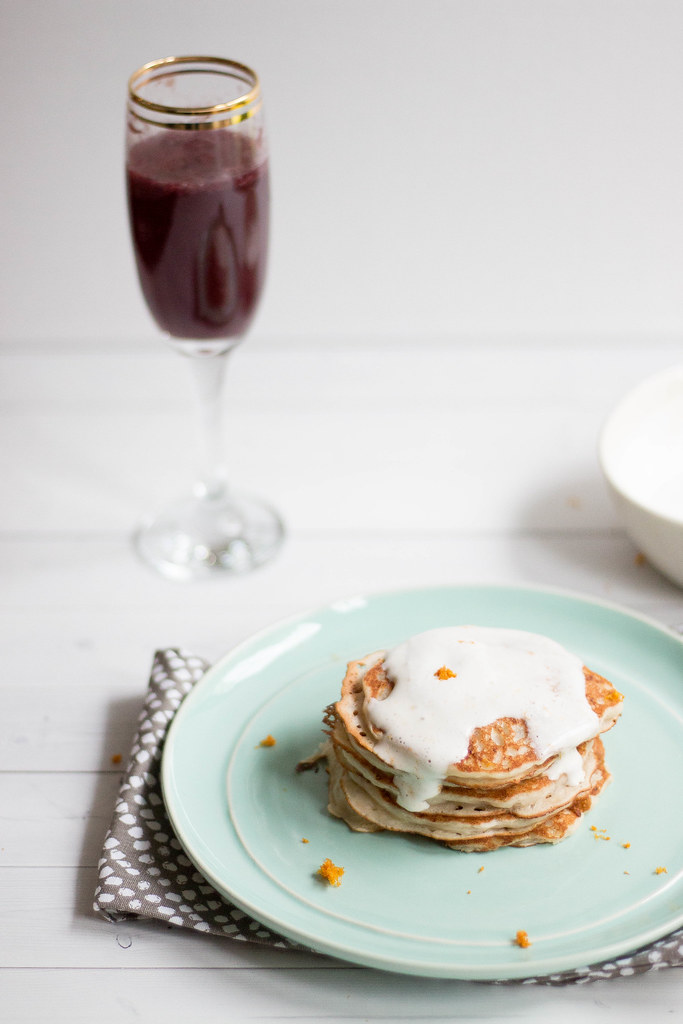 Banana Pancakes // Brunch with Kitchen IQ + So Delicious