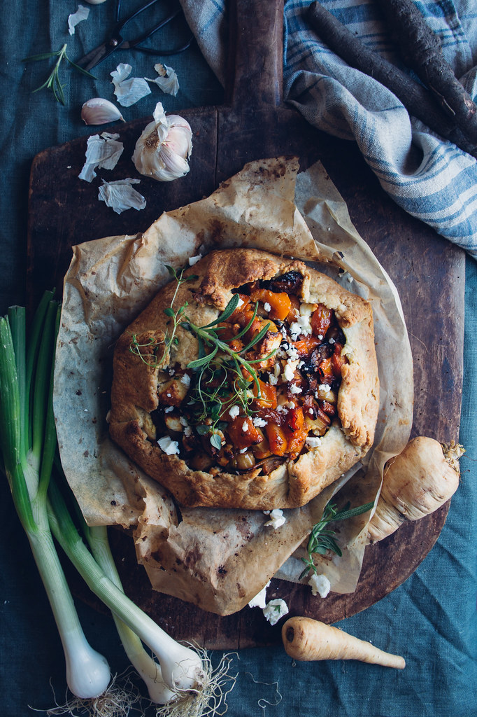 Roasted Root & Feta Galette | Cashew Kitchen