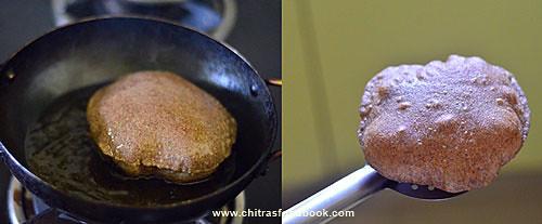 Ragi Poori recipe