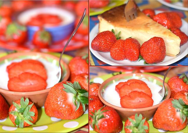 Mai 2017 ... Erdbeeren,  Erdbeervariationen, rote Collage: Brigitte Stolle, Mannheim