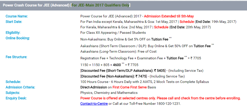 IIT JEE Power Crash Course