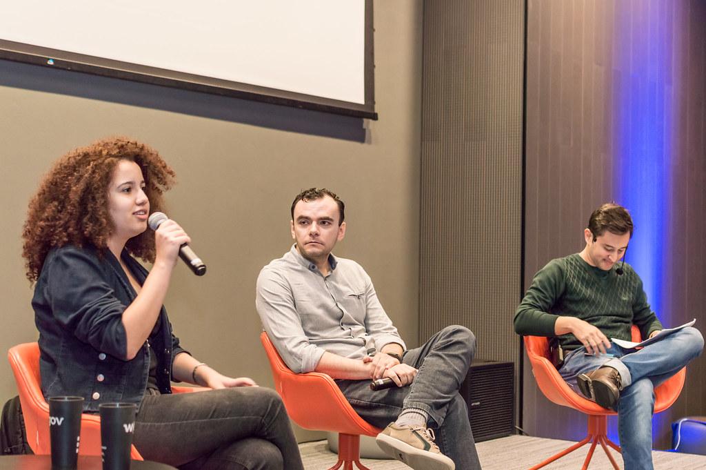 eu, Tiago Marzagão e André Tamura no encontro transparente