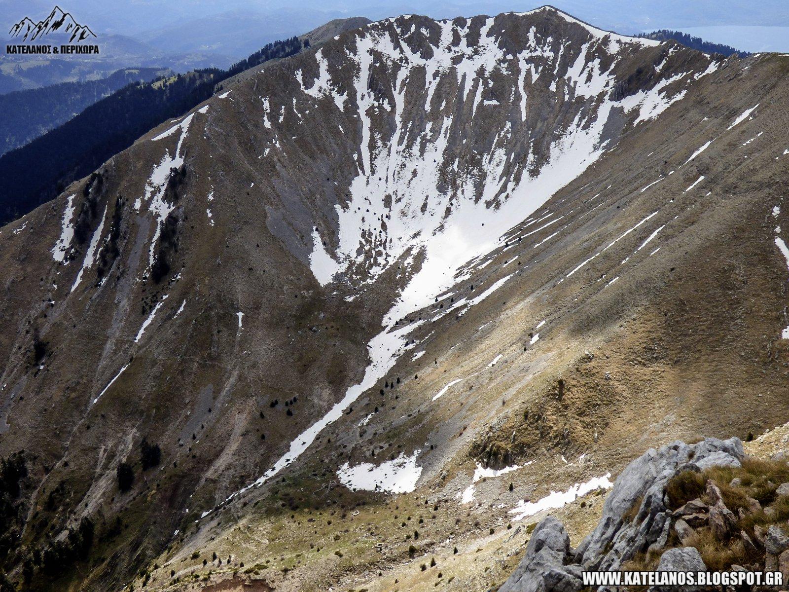 κορυφη ξανθη παναιτωλικου ορους χιονουρες