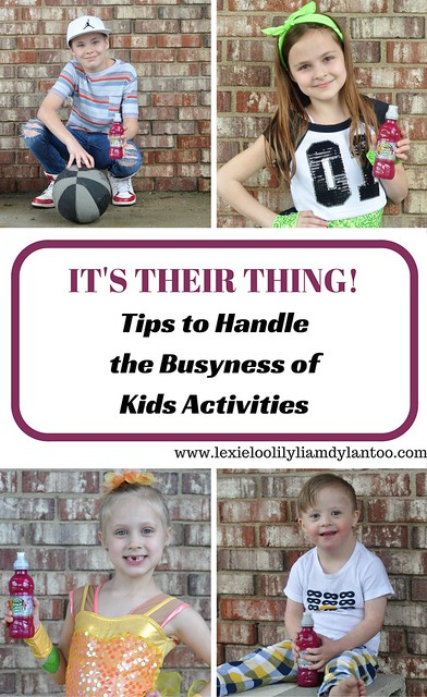 It's Their Thing! Tips to handle the busyness of kids activities.