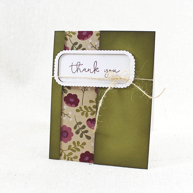 Ivy & Bloom Thank You Card