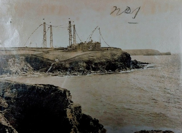 Marconi wireless station, Poldu, Cornwall. 1903